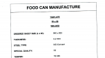 Example Food Can Data Sheet